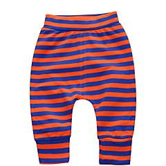 billige Babyunderdele-Baby Pige Gade Stribet Bomuld Bukser Orange