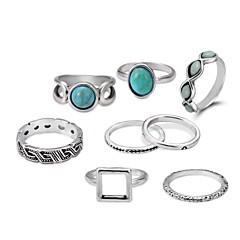 billige Motering-Dame Tau Ring Set - Enkel, Vintage, Klassisk Lolita Sølv Til Seremoni / Gate / 8pcs