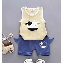 billige Sett med babyklær-Baby Unisex Stribet / Trykt mønster Uden ærmer Tøjsæt