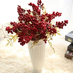billige Kunstige blomster-Kunstige blomster 5 Gren Rustikk Bryllupsblomster Juletre Evige blomster Bordblomst