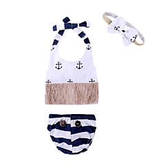 billige Badetøj-Spædbarn Pige Basale Strand Trykt mønster Uden ærmer Badetøj