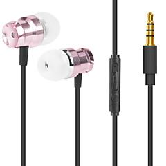 billiga Headsets och hörlurar-JTX M6 I öra Kabel Hörlurar Mikrofon Aluminum Alloy Sport & Fitness Hörlur mikrofon / Bekväm headset