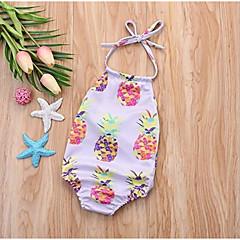 billige Badetøj-Spædbarn Unisex Daglig Blomstret Bomuld Badetøj Lilla