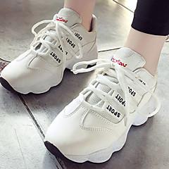 tanie Buty do biegania-Damskie Adidasy / Obuwie na co dzień Guma Bieganie Lekki, Oddychający Syntetyczny Microfiber PU / Siateczka Biały / Czarny / Różowy
