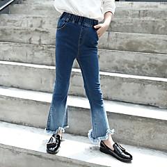 billige Jeans til piger-Børn Pige Farveblok Jeans