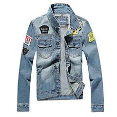Homens Jaqueta jeans Vintage - Geométrica