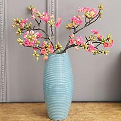 billige Kunstige blomster-Kunstige blomster 2 Gren Klassisk Singel Rustikk Enkel Stil Sakura Evige blomster Bordblomst