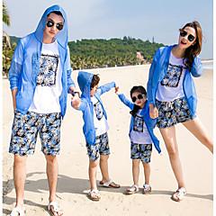 billige Sett med familieklær-Familie Look Ensfarget Langermet Bluse