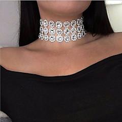 billige Halsbånd-Dame Lag-på-lag Kort halskæde - Europæisk, Mode Hvid 30 cm Halskæder Smykker 1pc Til Afslappet