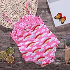 billige Badetøj til piger-Børn Pige Regnbue Badetøj
