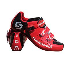 billige Sykkelsko-SIDEBIKE Voksne Sykkelsko med pedal og tåjern / Mountain Bike-sko Nylon Demping Sykling Rød Herre / Syntetisk Mikrofiber PU