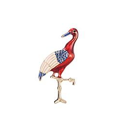 billige Motebrosjer-Dame Skulptur Nåler - Stilfull, Klassisk Brosje Mørkerød Flamingo Til Daglig