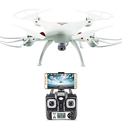 billige Fjernstyrte quadcoptere og multirotorer-RC Drone FLYRC X53 RTF 4 Kanaler 6 Akse 2.4G Med HD-kamera 1.0MP 1080P*720P Fjernstyrt quadkopter En Tast For Retur / Auto-Takeoff /