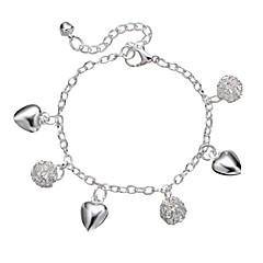 baratos Bijoux de Corps-Link / Corrente Tornezeleira - Coração Guloseima, Importante, Casual Prata Para Feriado / Para Noite