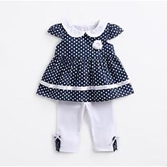 billige Sett med babyklær-Baby Pige Aktiv Prikker Kortærmet Tøjsæt