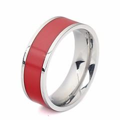 billige Motering-Par Resin Elegant Ring - Harpiks, Titanium Stål Kreativ Stilfull, trendy, Koreansk 7 / 8 / 9 / 10 / 11 Hvit / Svart / Rød Til Karneval Bar