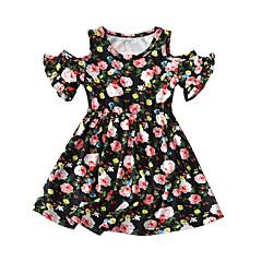billige Pigekjoler-Børn / Baby Pige Blomstret Kortærmet Kjole