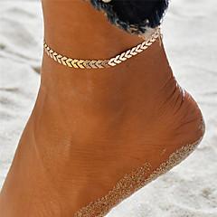 baratos Bijoux de Corps-Yoga Tornezeleira tornozeleira - Onda Original, Boêmio, Fashion Dourado / Prata Para Feriado Para Noite Mulheres