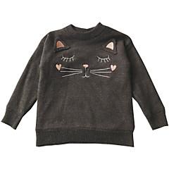 billige Hættetrøjer og sweatshirts til babyer-Baby Pige Geometrisk Langærmet Hættetrøje og sweatshirt
