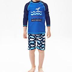billige Badetøj til drenge-Børn Drenge Strand Ensfarvet Badetøj