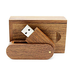 baratos Pen Drive USB-Ants 16GB unidade flash usb disco usb USB 2.0 Madeira / Bambu Rotativo