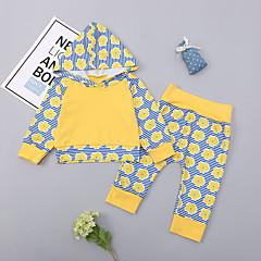 billige Sett med babyklær-Baby Pige Basale / Gade Sport Blomstret Langærmet Bomuld Tøjsæt
