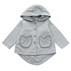 billige Overtøj til babyer-Baby Pige Ruder Langærmet Trenchcoat