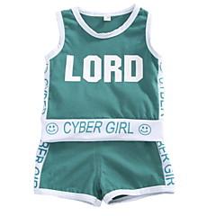 billige Tøjsæt til drenge-Baby Drenge Ensfarvet Uden ærmer Tøjsæt