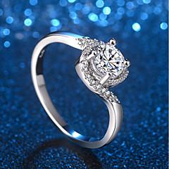 billige Motering-Dame Elegant / crossover Ring - Platin Belagt, Fuskediamant Dyrebar Unikt design, trendy, Elegant 5 / 6 / 7 Sølv Til Formell / Arbeid