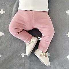 billige Babytøj-Baby Pige Aktiv / Basale I-byen-tøj Ensfarvet Bomuld Leggings