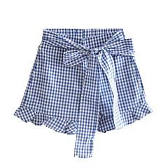 billige Bukser og leggings til piger-Børn Pige Basale Ternet Shorts