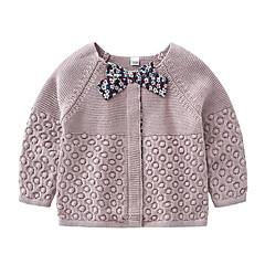 billige Sweaters og cardigans til babyer-Baby Pige Gade Ensfarvet Langærmet Akryl Trøje og cardigan Lyserød