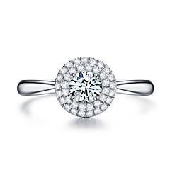 billige Motering-Dame Kubisk Zirkonium Stable Ring Forlovelsesring Løftering - Kobber, Platin Belagt Sølv Til Engasjement Gave
