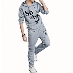 billige Tøjsæt til drenge-Børn Drenge Basale / Gade Sport Trykt mønster Trykt mønster Langærmet Bomuld Tøjsæt