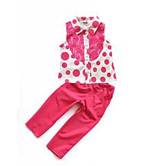 billige Tøjsæt til piger-Baby Pige Prikker Uden ærmer Tøjsæt