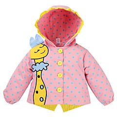 billige Overtøj til babyer-Baby Pige Aktiv / Basale I-byen-tøj Ensfarvet / Trykt mønster Trykt mønster Langærmet Lang Trenchcoat
