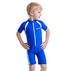 billige Badetøj til drenge-Børn Drenge Ensfarvet Kort Ærme Badetøj