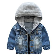 Χαμηλού Κόστους Μπουφάν και παλτό για αγόρια-Παιδιά Αγορίστικα Βασικό Καθημερινά Patchwork Patchwork Μακρυμάνικο Κανονικό Βαμβάκι / Πολυεστέρας Κοστούμι & Σακάκι Θαλασσί