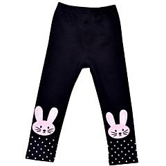 billige Bukser og leggings til piger-Børn Pige Basale Prikker / Trykt mønster Bomuld Leggings
