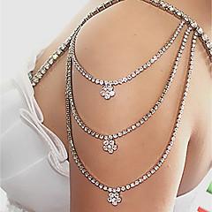 baratos Bijoux de Corps-Franjas Cadeia braço Criativo, Pétala Luxo, Fashion, Elegante Mulheres Branco Bijuteria de Corpo Para Casamento / Noivado