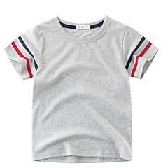 baratos Roupas de Meninos-Infantil Para Meninos Retalhos Manga Curta Camiseta