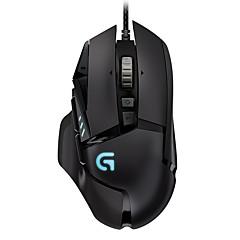 Χαμηλού Κόστους Ποντίκια-Ενσύρματο USB Gaming Mouse Λέιζερ G502 12 pcs κλειδιά RGB φως 5 Ρυθμιζόμενα επίπεδα DPI 9 προγραμματιζόμενα πλήκτρα