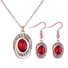 baratos Conjuntos de Bijuteria-Mulheres Torcido Conjunto de jóias - Europeu, Fashion, Elegante Incluir Colar / Brinco Roxo / Vermelho / Azul Para Diário / Festa de Noite