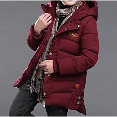 tanie Odzież dla chłopców-Dzieci Dla chłopców Podstawowy / Moda miejska Wyjściowe Solidne kolory Nadruk Długi rękaw Bawełna Odzież puchowa / pikowana