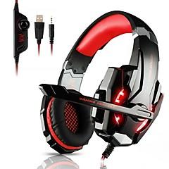 billiga Headsets och hörlurar-KOTION EACH G9000 Headband Kabel Hörlurar Hörlur ABS + PC Spel Hörlur mikrofon / Med volymkontroll headset