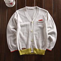 billige Sweaters og cardigans til drenge-Baby Drenge Ensfarvet Uden ærmer / Langærmet Trøje og cardigan