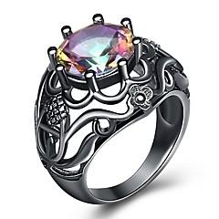 billige Motering-Dame Vintage Stil Statement Ring Ring - Strass Blomst, Ball Rustikk / Hytte, Overdrivelse, Mote 5 / 6 / 7 / 8 / 9 Svart Til Maskerade Bar