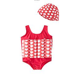 billige Badetøj til piger-Børn Pige Ensfarvet / Prikker Uden ærmer Badetøj