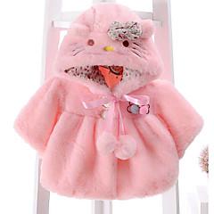 billige Overtøj til babyer-Baby Pige Basale Ensfarvet Langærmet Jakke og frakke