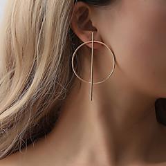 저렴한 여성용 쥬얼리-1 쌍 여성용 스터드 귀걸이 - 드롭 숙녀 단순한 기하학 유니크 디자인 대형 보석류 골드 / 블랙 / 실버 제품 파티 / 이브닝 카니발 거리